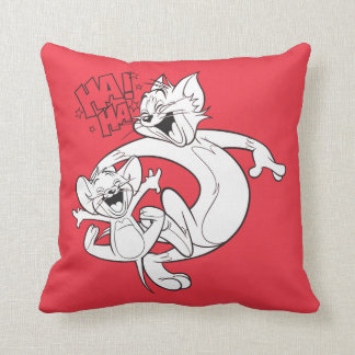 Tom And Jerry | Tom And Jerry Laughing Throw Pillow
