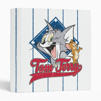 Tom And Jerry | Tom And Jerry On Baseball Diamond Vinyl Binders