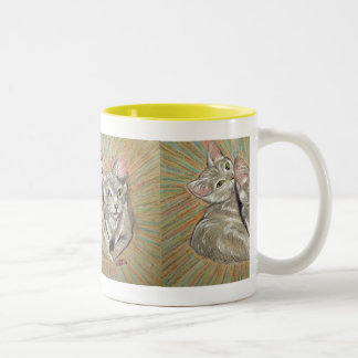 Tom and Jerry's Psychedelic Adventure Two-Tone Coffee Mug
