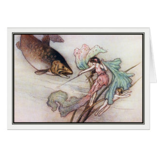 Tom and the Trout by Warwick Goble Card