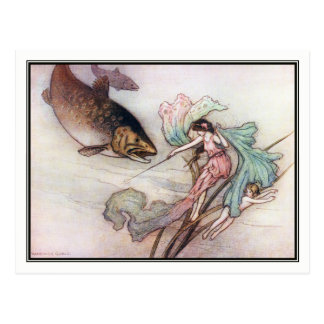 Tom and the Trout by Warwick Goble Postcard