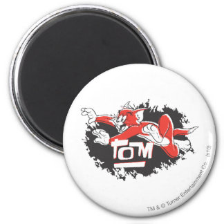 Tom Black and Red Logo Magnet