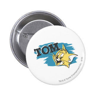 Tom Blue and Yellow Logo 2 Inch Round Button