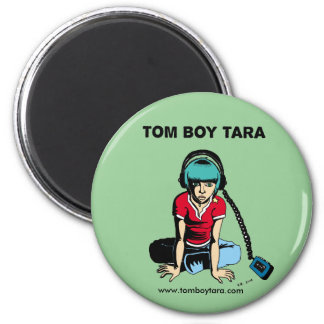Tom Boy Tara Earphones 2 Inch Round Magnet