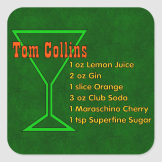 Tom Collins Square Sticker