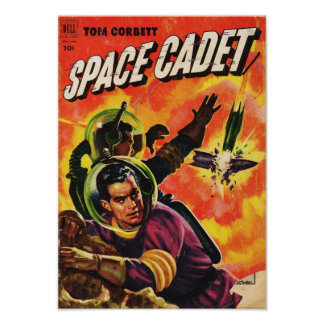 Tom Corbett Space Cadet:  Exploding Rocket Ship Poster