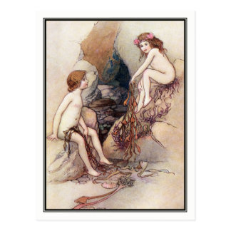 Tom Finds a Water Baby by Warwick Goble Postcard