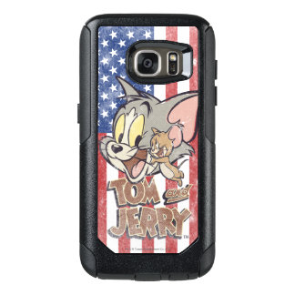Tom & Jerry With US Flag OtterBox Samsung Galaxy S7 Case