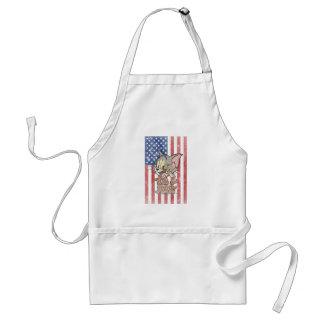 Tom & Jerry With US Flag Standard Apron