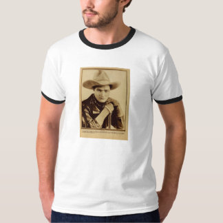 Tom Mix 1918 portrait with rifle for silent movie T-Shirt