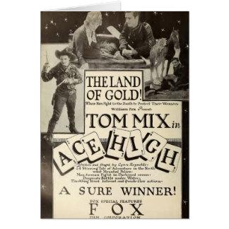 Tom Mix Ace High 1918 movie ad card