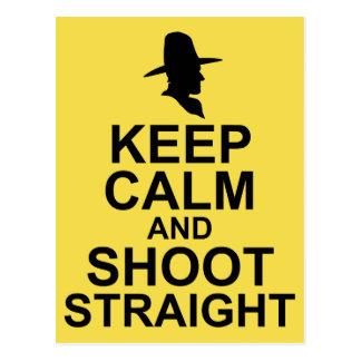 Tom Mix Keep Calm and Shoot Straight Postcard