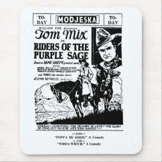 Tom Mix Riders of Purple Sage ad 1925 Mouse Pad