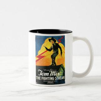 Tom Mix The Fighting Streak 1922 movie poster Two-Tone Coffee Mug
