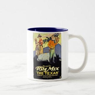 Tom Mix The Texan movie poster Two-Tone Coffee Mug