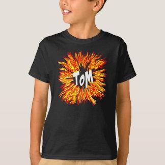 Tom Name Star on Fire T-Shirt