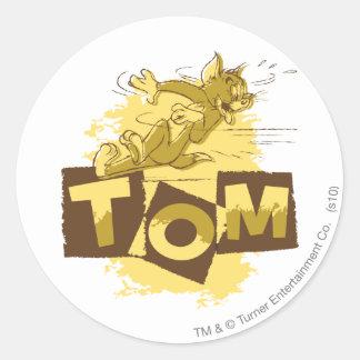 Tom Sliding Stop Round Sticker