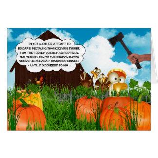 Tom the Turkey's Thanksgiving Adventures Part III Card