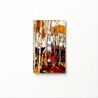 Tom Thomson artwork - Autumn Birches Light Switch Cover