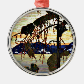 Tom Thomson - The Jack Pine-1917 artwork Silver-Colored Round Ornament