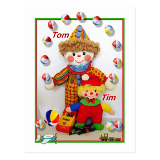 "TOM & TIM  ""Get well"" Postcard"