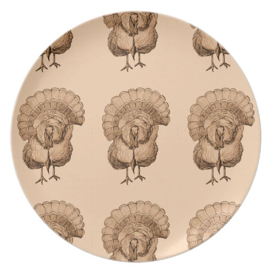 Tom Turkey Design on Dinner Plate