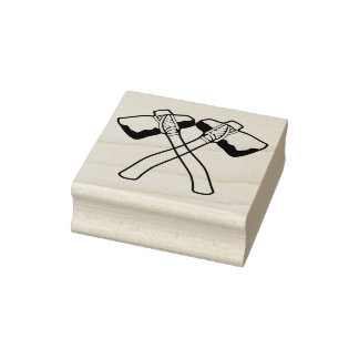 Tomahawks Crossing Rubber Stamp
