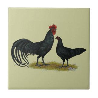 Tomaru Long Crower Chickens Ceramic Tiles