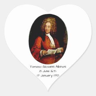Tomaso Giovanni Albinoni Heart Sticker