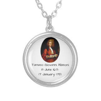 Tomaso Giovanni Albinoni Silver Plated Necklace
