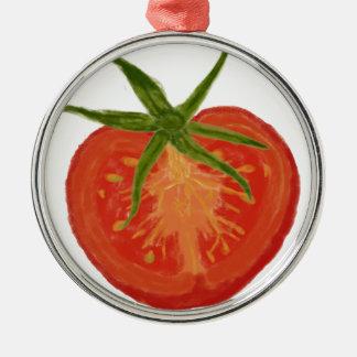 tomate Silver-Colored round ornament