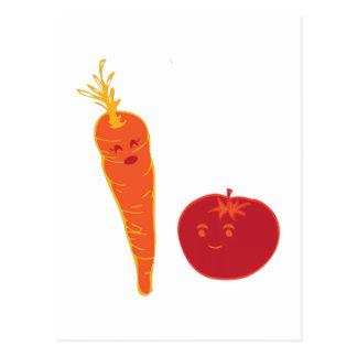 Tomato And Carrot Postcard
