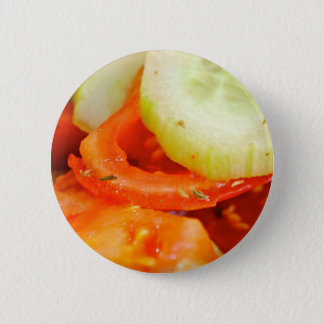 Tomato and Cucumber Salad 2 Inch Round Button