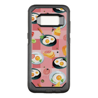 Tomato and Fried Eggs Pattern OtterBox Commuter Samsung Galaxy S8 Case