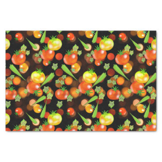 Tomato and okra print tissue paper kitchen gift