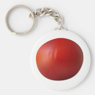 Tomato Basic Round Button Keychain