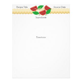 Tomato basil lasagna pasta recipe letterhead