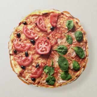 Tomato Basil Pizza Round Pillow