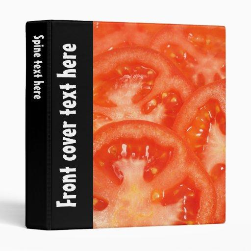 Tomato Vinyl Binders