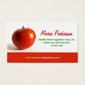 tomato business card design