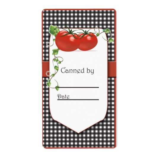 Tomato Canning Jar Label