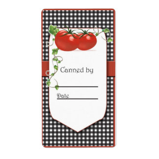 Tomato Canning Jar Label Shipping Label