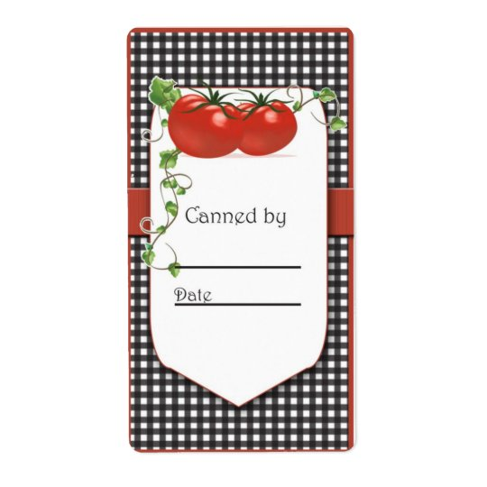 Tomato Canning Jar Labels