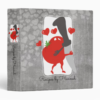 Tomato chefs knife in love recipe cookbook vinyl binder