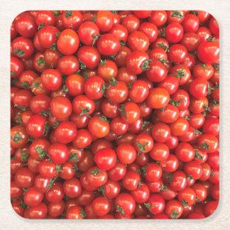 Tomato Coster Square Paper Coaster