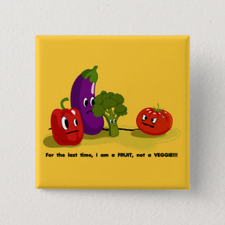 Tomato humor 2 inch square button