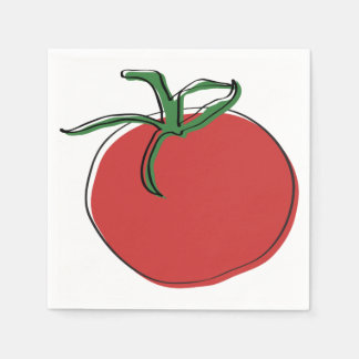 Tomato illustration by Neal DePinto Paper Napkin