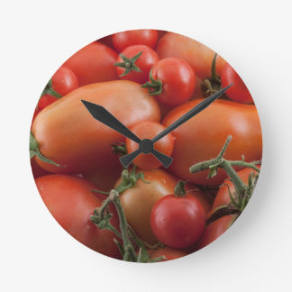 Tomato Mix Round Clock