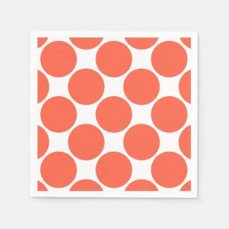 Tomato Orange Polka Dot Paper Napkin