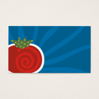 tomato pattern culinary business card